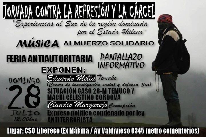 Jornada contra la represión y la cárcel