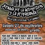 27 de Septiembre  Jornada por la autogestión y la propaganda (Villa San Cristobal, La Chimba, Recoleta)